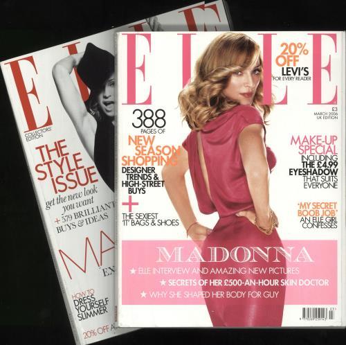 Madonna Elle - March 2006 & May 2008 magazine UK MADMAEL733259