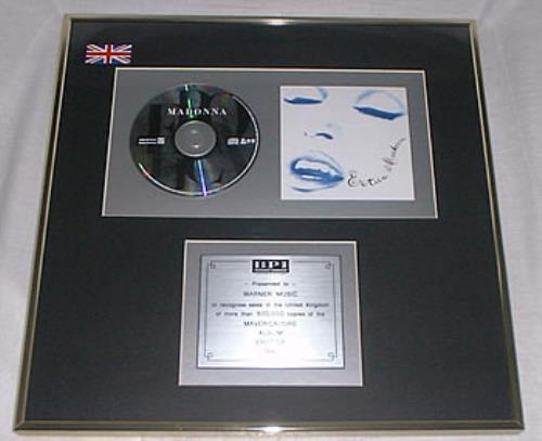 Madonna Erotica - Double Platinum award disc UK MADAWER217837