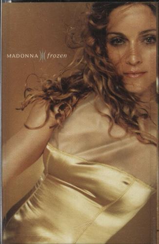Madonna Frozen - Black cassette single UK MADCSFR729521