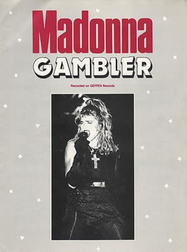 Madonna Gambler sheet music UK MADSMGA395513