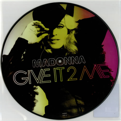 "Madonna Give It 2 Me 12"" vinyl picture disc 12inch picture disc record UK MAD2PGI436573"