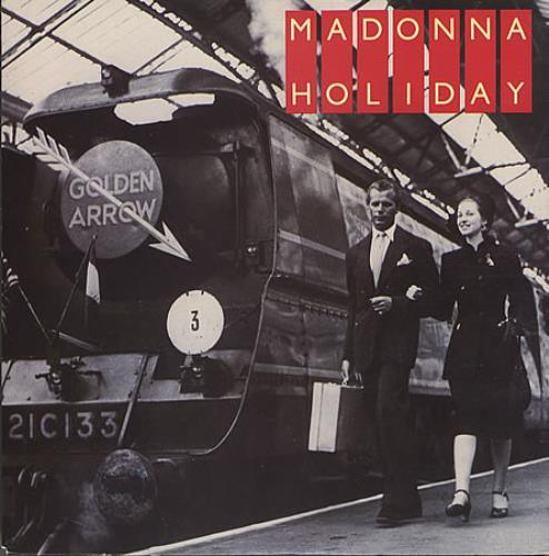 "Madonna Holiday - Solid - Train Card Sleeve 7"" vinyl single (7 inch record) UK MAD07HO05344"