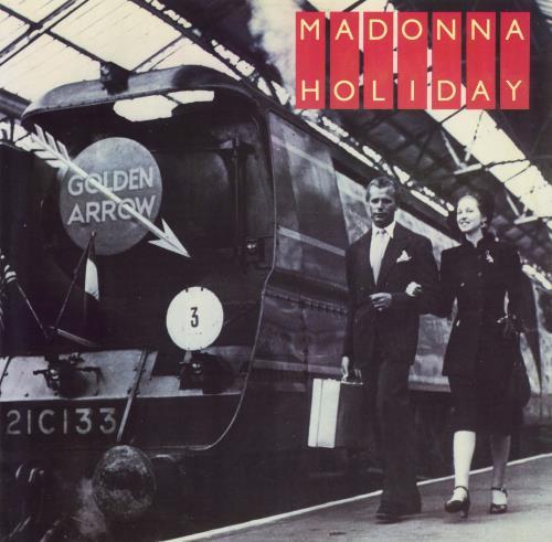 """Madonna Holiday - Train sleeve - EX 12"""" vinyl single (12 inch record / Maxi-single) UK MAD12HO303469"""