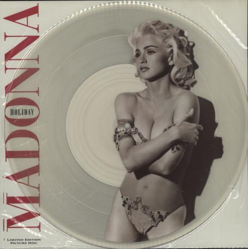 "Madonna Holiday 91 12"" vinyl picture disc 12inch picture disc record UK MAD2PHO05433"