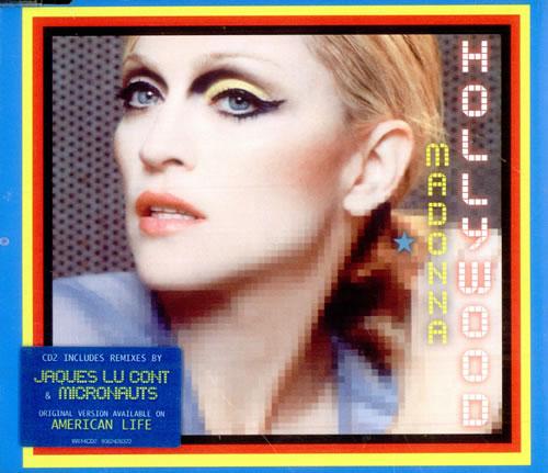 "Madonna Hollywood - CD 2 CD single (CD5 / 5"") UK MADC5HO511460"
