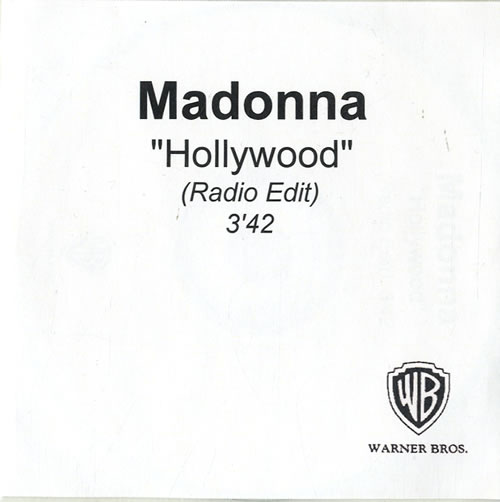 Madonna Hollywood CD-R acetate UK MADCRHO246574
