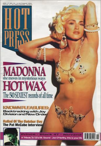 Madonna Hot Press - October 1993 magazine Irish MADMAHO379471
