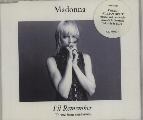 "Madonna I'll Remember CD single (CD5 / 5"") German MADC5IL25711"