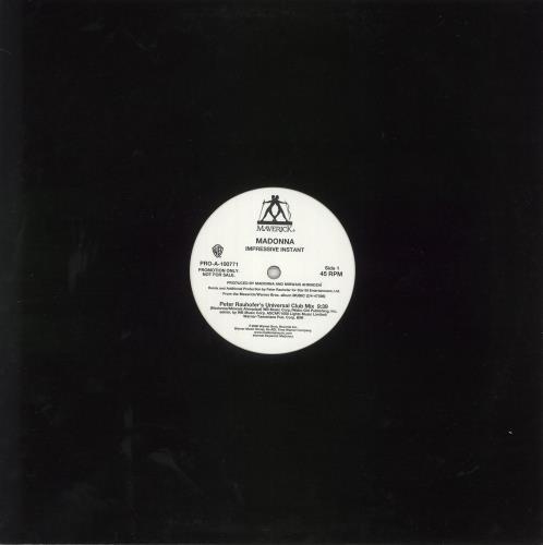 "Madonna Impressive Instant 12"" vinyl single (12 inch record / Maxi-single) US MAD12IM199327"