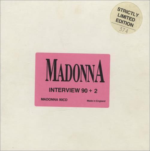 Madonna Interview 90 + 2 CD album (CDLP) UK MADCDIN39544