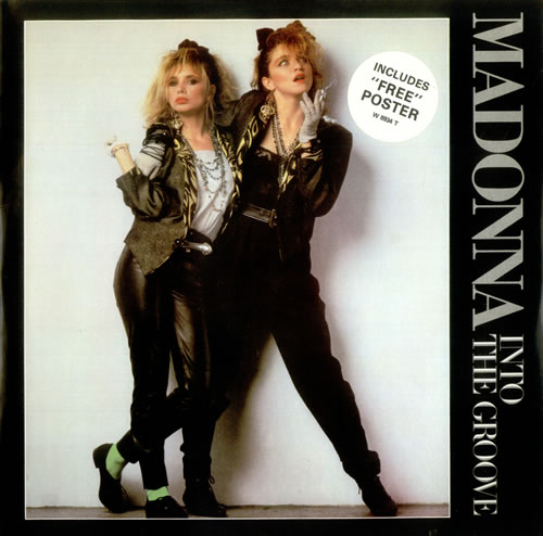 """Madonna Into The Groove + Poster 12"""" vinyl single (12 inch record / Maxi-single) UK MAD12IN00351"""