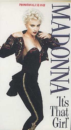 Madonna It's That Girl video (VHS or PAL or NTSC) UK MADVIIT269883