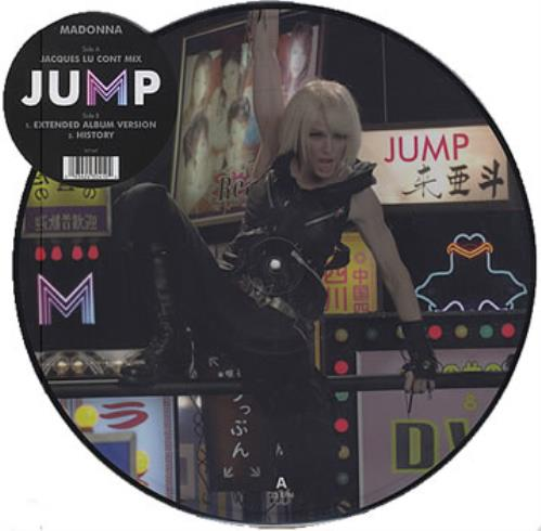 "Madonna Jump 12"" vinyl picture disc 12inch picture disc record UK MAD2PJU378492"