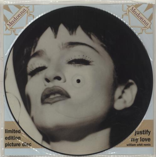 """Madonna Justify My Love + Insert 12"""" vinyl picture disc 12inch picture disc record UK MAD2PJU05431"""