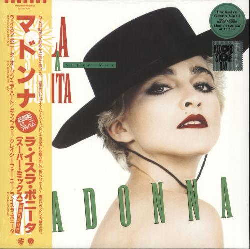 "Madonna La Isla Bonita: Super Mix - RSD19 - Green Vinyl - Sealed 12"" vinyl single (12 inch record / Maxi-single) UK MAD12LA718458"
