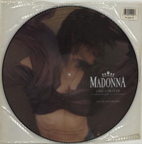 Madonna Like A Prayer Barcode Stickered Sleeve Uk 12