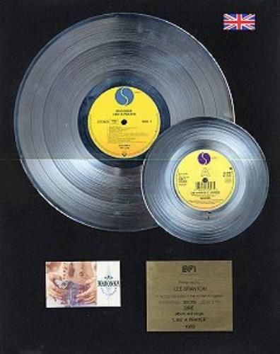 Madonna Like A Prayer - Platinum 2-disc Award award disc UK MADAWLI147924