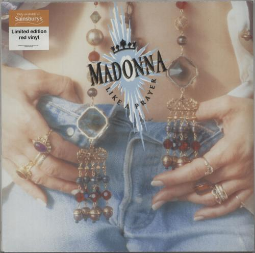 Madonna Like A Prayer - Red Vinyl + Sealed vinyl LP album (LP record) UK MADLPLI662632