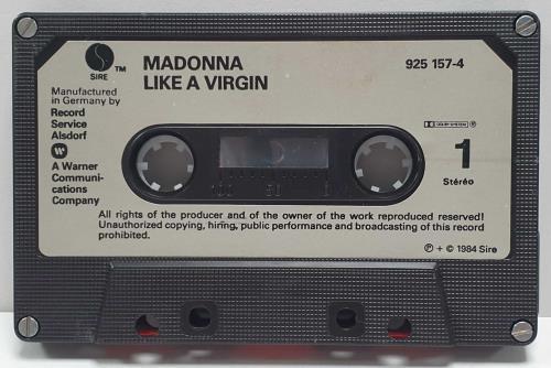 Madonna Like A Virgin - 2nd - Grey Label & Black Shell cassette album German MADCLLI216401