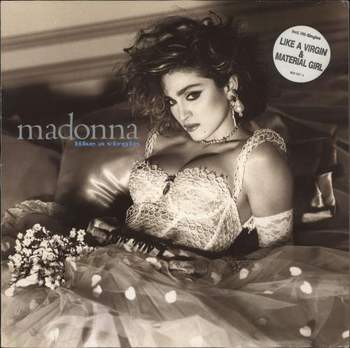 Madonna Like A Virgin - double song stickered picture sleeve vinyl LP album (LP record) German MADLPLI715187