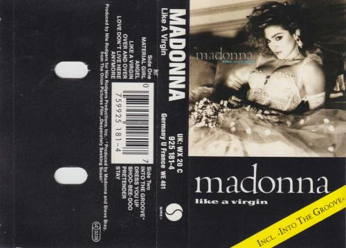 Madonna Like A Virgin - Silver Paper Labels cassette album UK MADCLLI216400