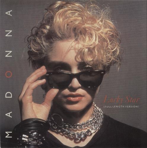 "Madonna Lucky Star - 'Sunglasses' Sleeve 12"" vinyl single (12 inch record / Maxi-single) UK MAD12LU08790"