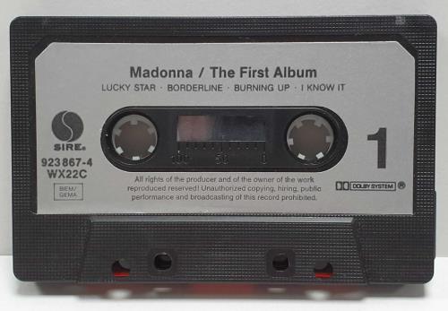 Madonna Madonna - Silver paper labels & Barcode cassette album German MADCLMA722082