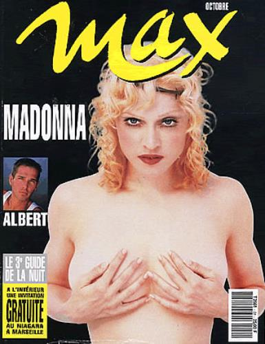 Madonna Max Magazine - October 1992 magazine French MADMAMA254000