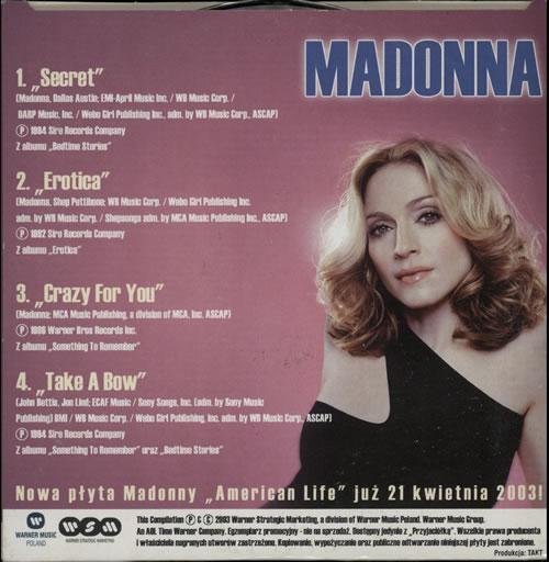 "Madonna Mitosne Przeboje CD single (CD5 / 5"") Polish MADC5MI257915"