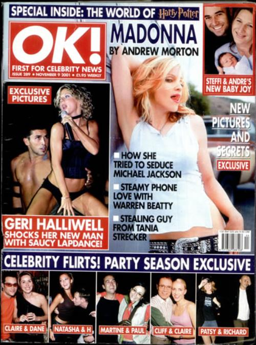 Madonna OK! - November 2001 magazine UK MADMAOK503881