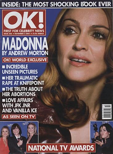 Madonna OK - November 2001 magazine UK MADMAOK334881