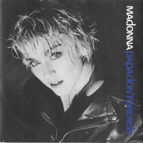 "Madonna Papa Don't Preach - Inj - Paper sleeve 7"" vinyl single (7 inch record) UK MAD07PA565587"