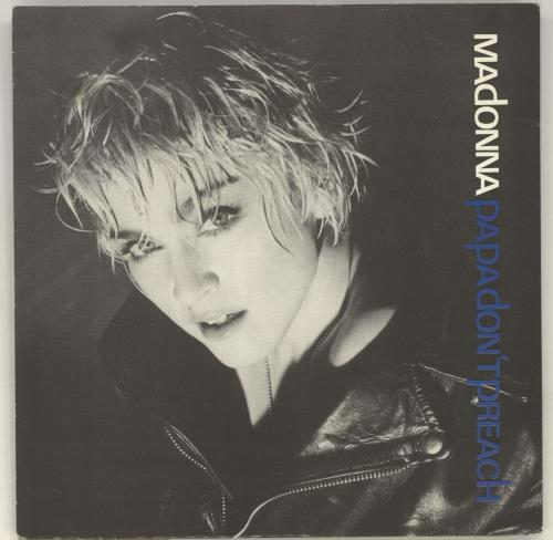 "Madonna Papa Don't Preach - Solid - Glossy Sleeve 7"" vinyl single (7 inch record) UK MAD07PA05378"