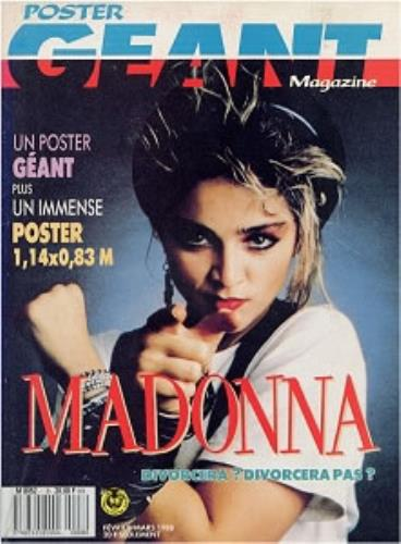 madonna poster geant french magazine 177183 feb march 1988. Black Bedroom Furniture Sets. Home Design Ideas