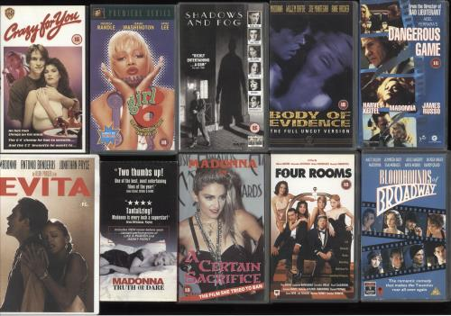Madonna Quantity of Twenty Movie Videos video (VHS or PAL or NTSC) UK MADVIQU731809
