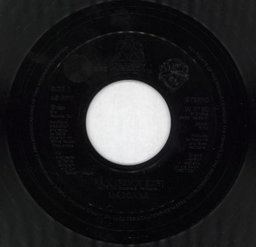 "Madonna Rain (Remix Edit) - Black Injection + Jukebox 7"" vinyl single (7 inch record) UK MAD07RA49590"