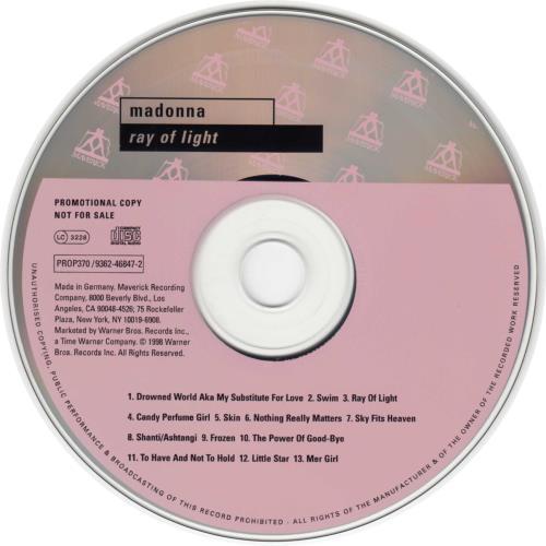Madonna Ray Of Light CD album (CDLP) German MADCDRA108571