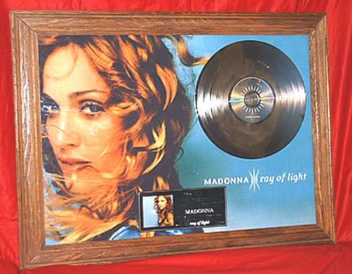 Madonna Ray Of Light award disc Mexican MADAWRA301721