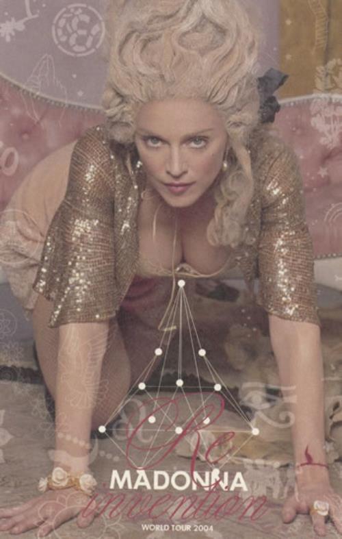 Madonna Re-Invention World Tour - Set Of 8 Passes + Promo Card tour pass US MADTPRE490454