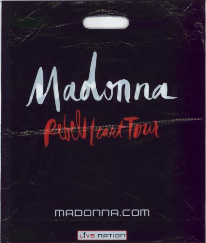 Madonna Rebel Heart + Carrier bag & Ticket stubs tour programme UK MADTRRE769796