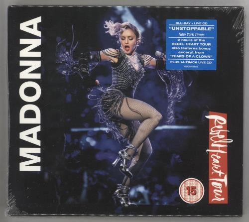 Madonna Rebel Heart Tour + CD - Sealed Blu Ray DVD UK MADBRRE727953
