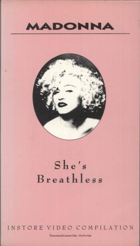 Madonna She's Breathless video (VHS or PAL or NTSC) UK MADVISH18925