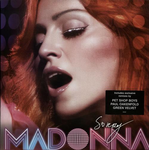 "Madonna Sorry - Stickered Sleeve 12"" vinyl single (12 inch record / Maxi-single) UK MAD12SO350296"