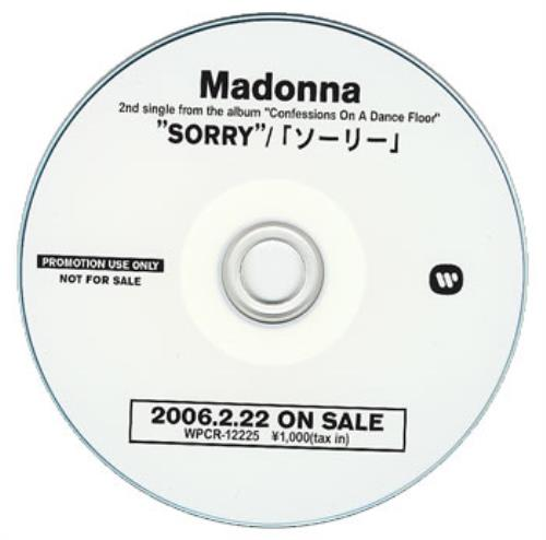 Madonna Sorry CD-R acetate Japanese MADCRSO358352