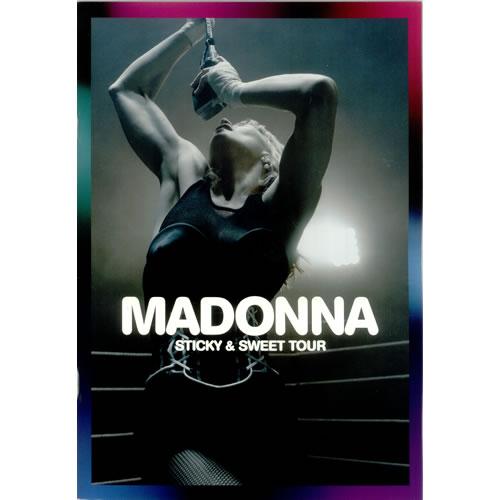 Madonna Sticky & Sweet Tour - 1st Leg tour programme UK MADTRST452261