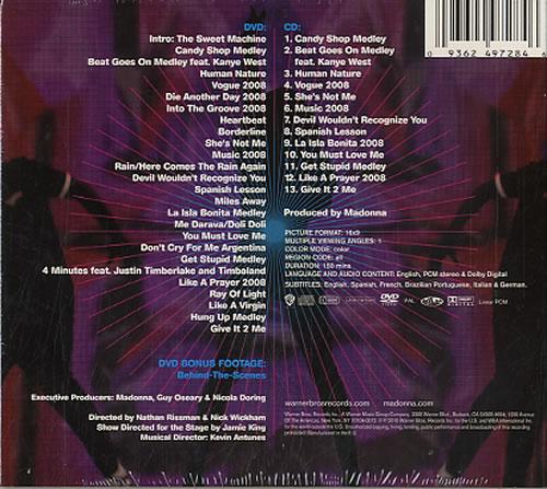 Madonna Sticky & Sweet 2-disc CD/DVD set UK MAD2DST501729