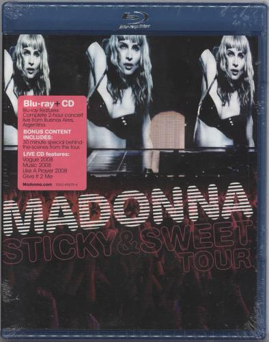 Madonna Sticky & Sweet 2-disc CD/DVD set UK MAD2DST501730