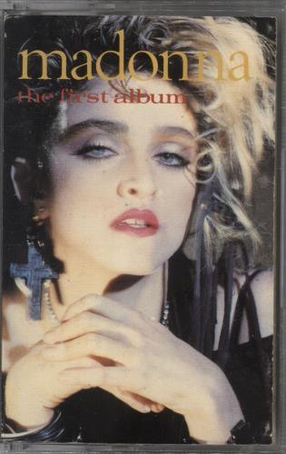 Madonna The First Album - Paper Labels cassette album UK MADCLTH41795