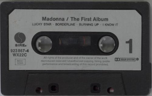 Madonna The First Album cassette album UK MADCLTH41795