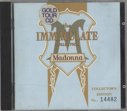 Madonna The Immaculate Collection - Gold Tour CD - EX CD album (CDLP) Australian MADCDTH722189